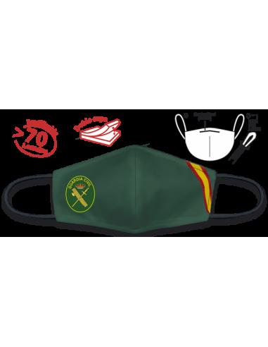 Mascarilla Verde Bandera Guardia Civil